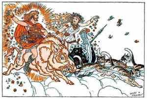 Freya and Freyr riding