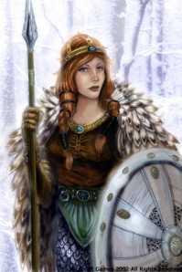 Freya shield and spear