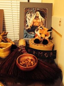 altar nov 2014--odin side