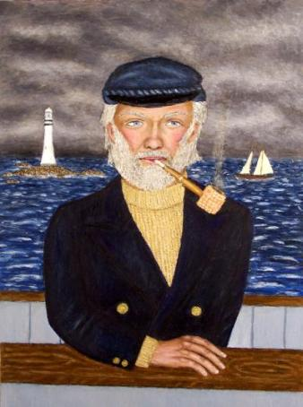 Njord--Sea captain painting
