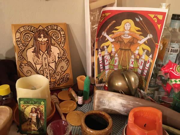 freyr-and-gerd-altar