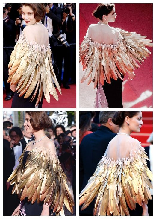 gold feather cloak